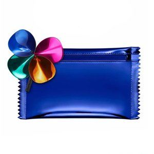 MAC Cosmetics Metallic Blue makeup case  keychain